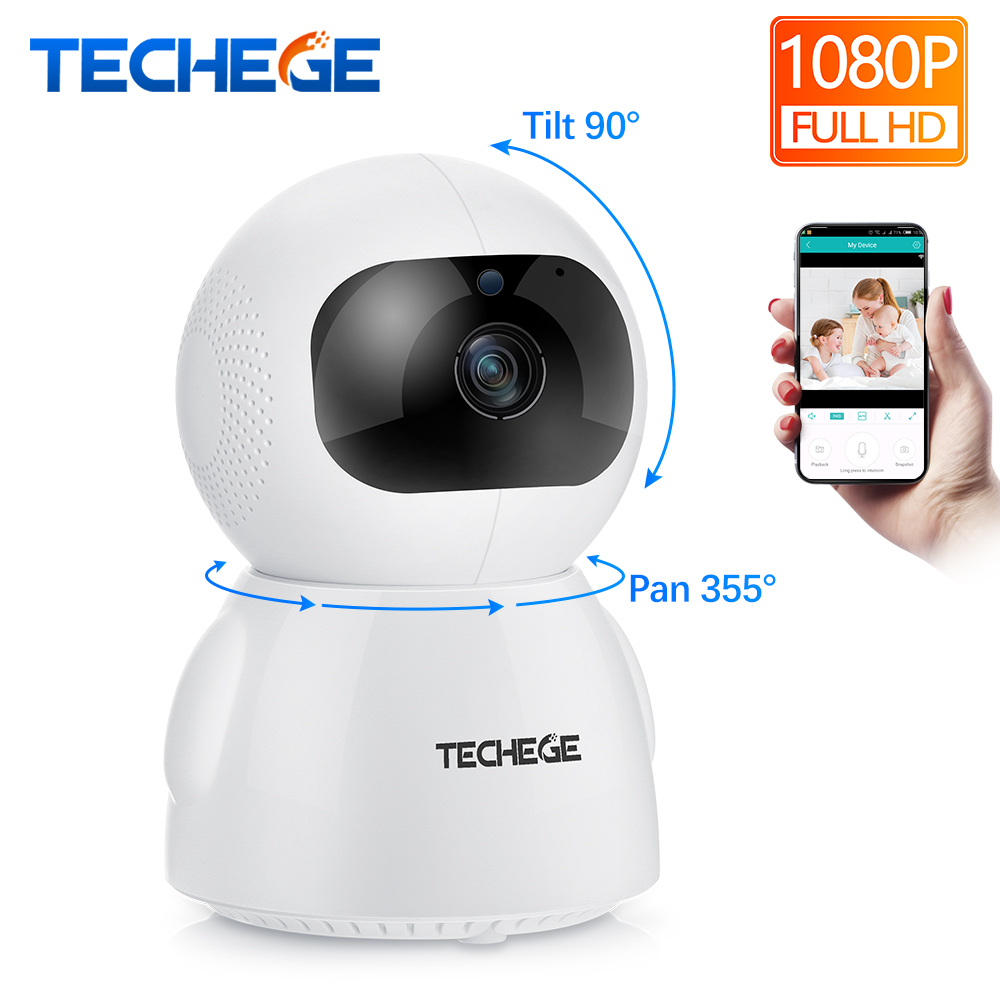 Techege 1080P 720P IP Camera Wireless Home Security Camera Surveillance Camera Wifi Night Vision CCTV Camera 2MP Baby Monitor