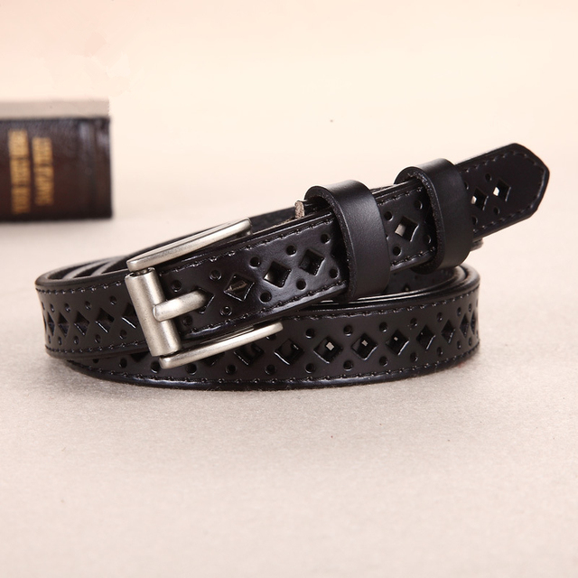 COWATHER 2018 Good Women belts cow genuine leather pin buckle vintage style