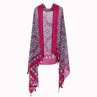 الأحمر الحرير وشاح النساء هندسية الأوشحة شال الفولار باندانا الفاخرة طويلة عالية الجودة الحجاب 2018 180*90 سنتيمتر ل بالجملة