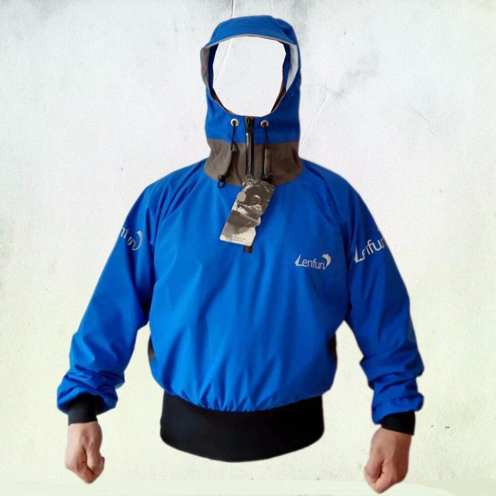 Semi-aces sec, paddle veste avec capuche tempête splash top, voile, canoë veste de pulvérisation, Touring, Kayak, mer Kayak, Rafting
