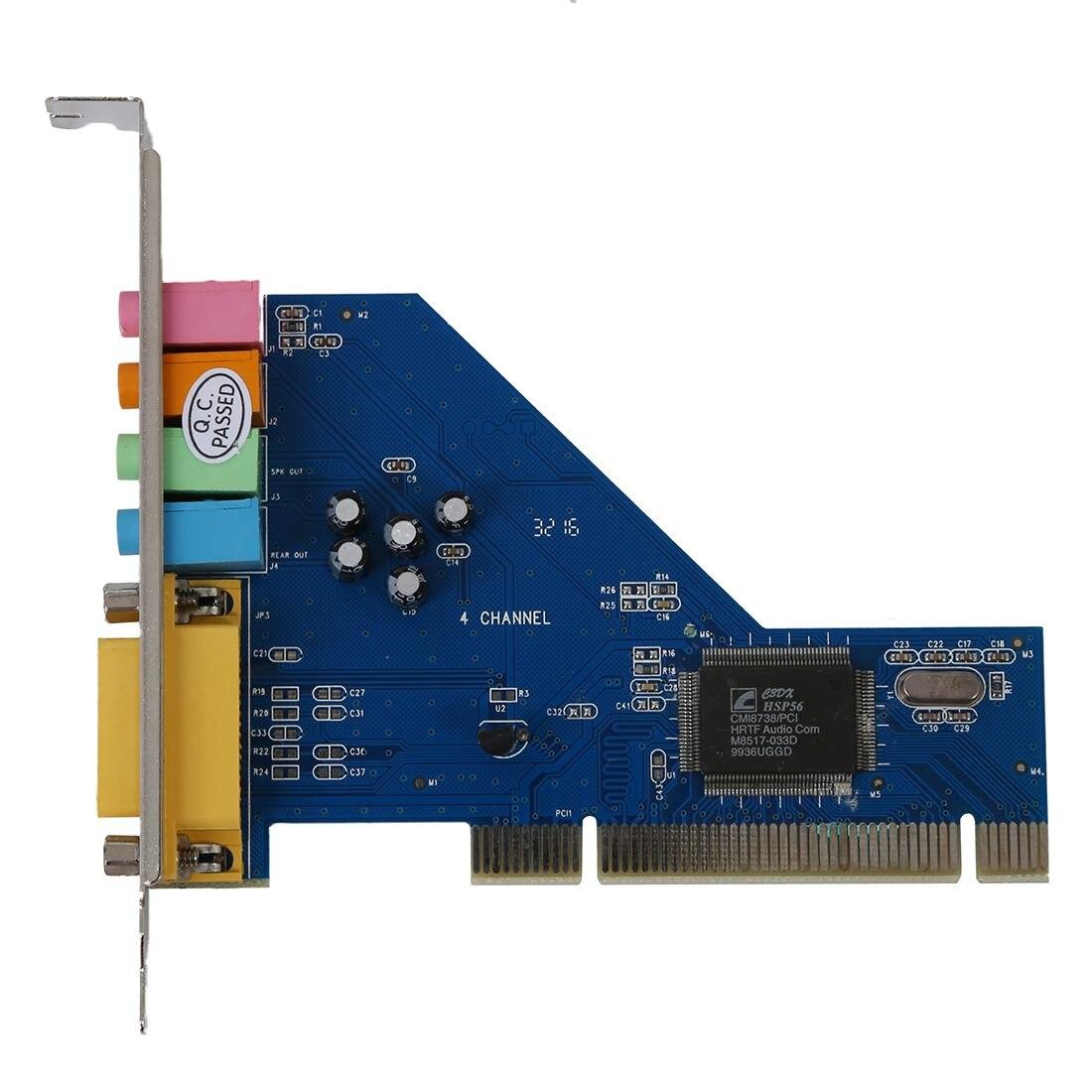4 Channel C-Media 8738 Chip 3D Audio Stereo Internal PCI Sound Card Win7 64 Bit