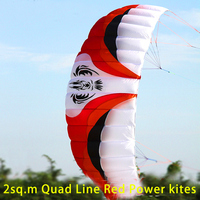 free shipping high quality Four line Line Stunt Power kite quad line kite surfing kite boarding hot sell with handle