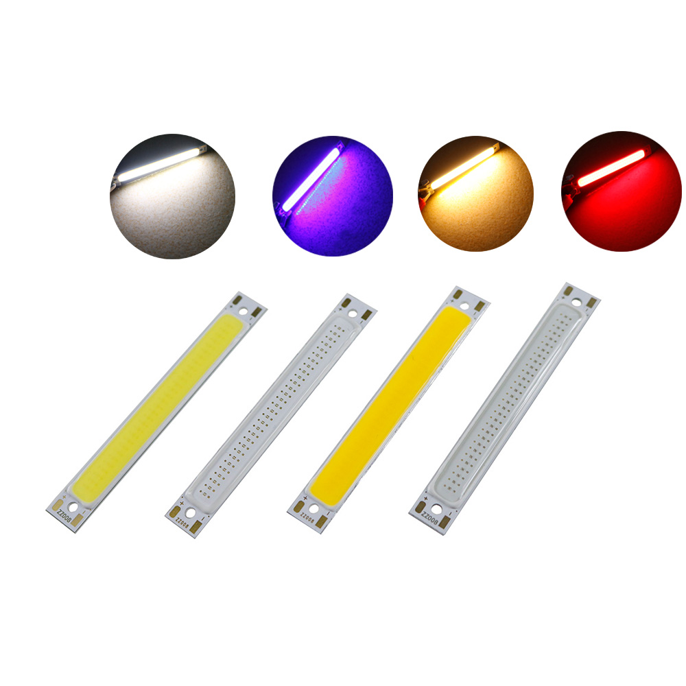COB LED DC3V 3W 60mm flashlight Light Chip Lamp Bulb Warm Cold White Blue Red LED Bar Lights 60*8MM for DIY Bed Bicycle Lights цена