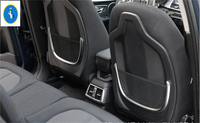 Yimaautotrims For BMW X1 F48 2016 2017 2018 ABS New Style Back Seat Tidy Net Storage Bag Case Holder Shape U Cover Trim 2 Pcs