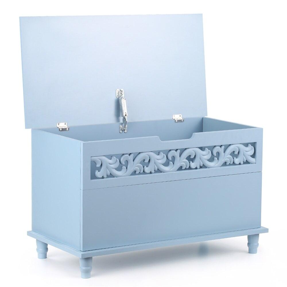 IKayaa moderne salon armoires Rectangle coffre de rangement grand jouet couverture armoires de rangement salon meubles de maison
