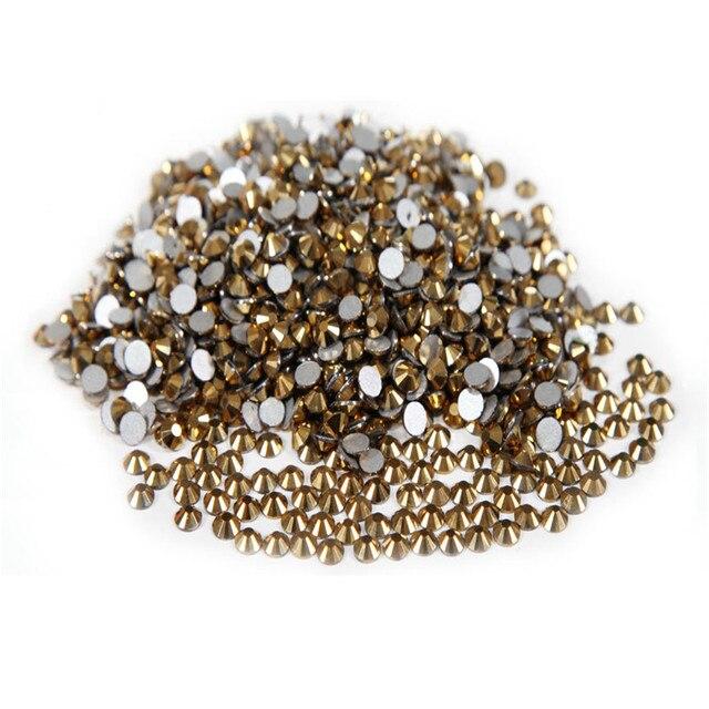 Super Shiny 1440p SS10 2.8mm crystal Murum Gold Rhinestones For Nails Nail  Art Decorations DIY Nail Salon Beads 09465547a505