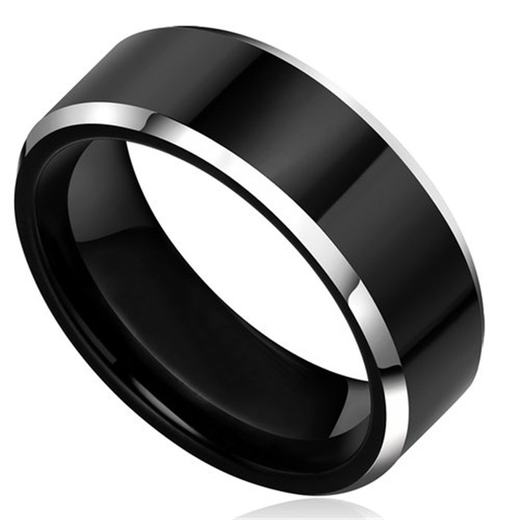 popular black metal wedding bands-buy cheap black metal wedding