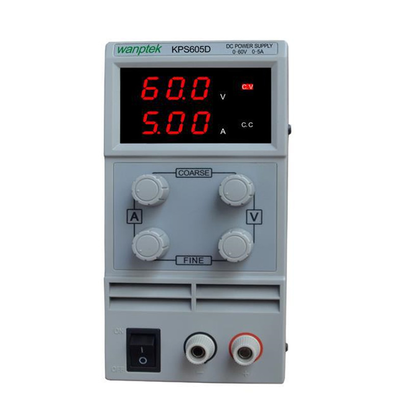 ФОТО Newest mini switching DC power supply KPS605D 60V 5A Single Channel adjustable SMPS Digital  0-60V/0-5A 110V-230V 0.1V/0.01A