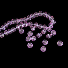 Crystal Faceted Loose Lilac Rondelle Beads 2mm,4mm,6mm,8mm,10mm Crystal Chandelier Beads Wholesales For Diy Shoes Beads