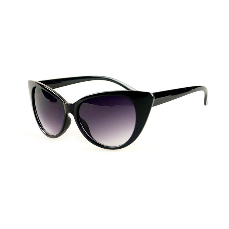 Black Spicy Cateye saulesbriļļu rāmji bellahadid LOLITA gludie kaķu acu stili ar biezu rāmja profilu