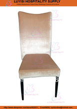 Stackable metal Upholstered high back dining chair LUYISI961