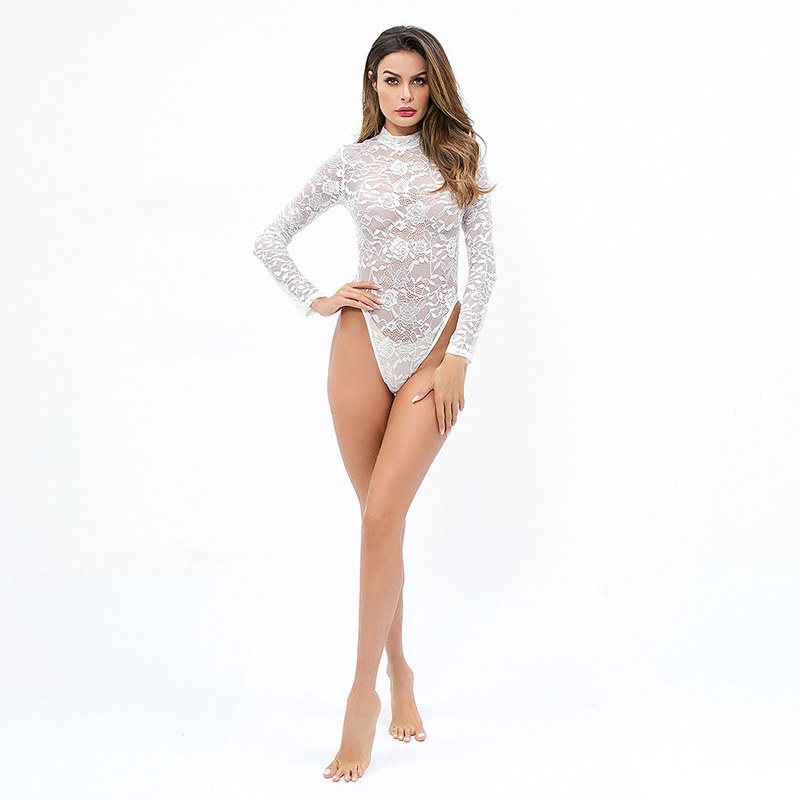 Underwear & Sleepwears Sexy Mousse Classical Cotton Sexy Long-sleeved Waist Shaping Body Shaping Hip Belly Jumpsuit Bodybuilding Womens Body Tights