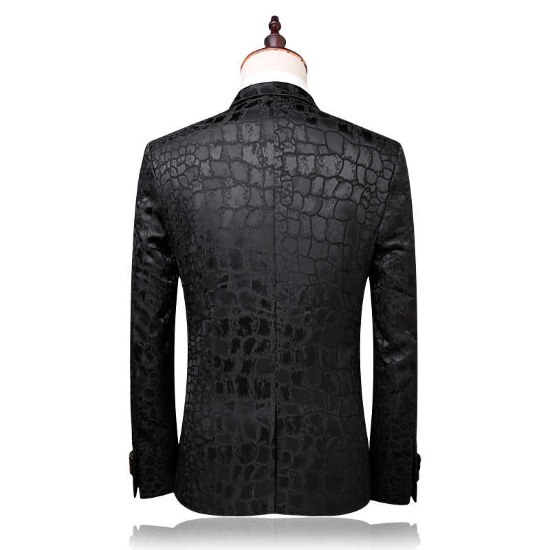 Plyesxale брендовый костюм Для мужчин 2018 Осень Slim Fit Нарядные Костюмы для свадьбы для мужские черные Для мужчин s костюмы для выпускного модные самые последние модели брюк для Q321