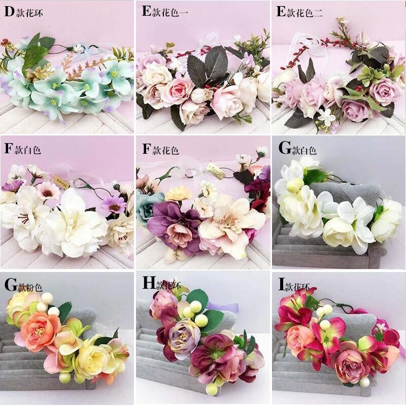 Wholesale bride wedding garland adjustable floral floer crown women headdress jewelry Studio Photos ornaments Hair Accessories