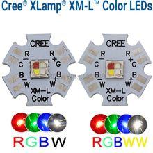 10w Cree XLamp XM-L XML RGBW RGB белый или светильник с новой уникальной технологией рассеивания света cо теплый белый Цвет высокое Мощность светодиодный излучатель 4-чип 20 мм звезды печатной платы