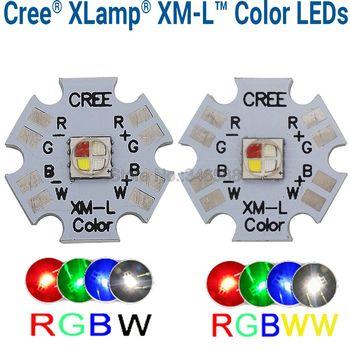 10w Cree XLamp XM-L XML RGBW RGB biały lub RGB ciepły biały kolor wysokiej dioda led dużej mocy nadajnika 4-Chip 20mm gwiazda płytka drukowana tanie i dobre opinie Piłka veromount