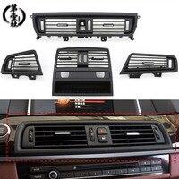 Ventilación de aire acondicionado de coche  Panel de salida de parrilla con placa cromada para BMW 5 Series F10 F18 LHD  fila frontal  viento  centro izquierdo  derecha|Molduras interiores|   -