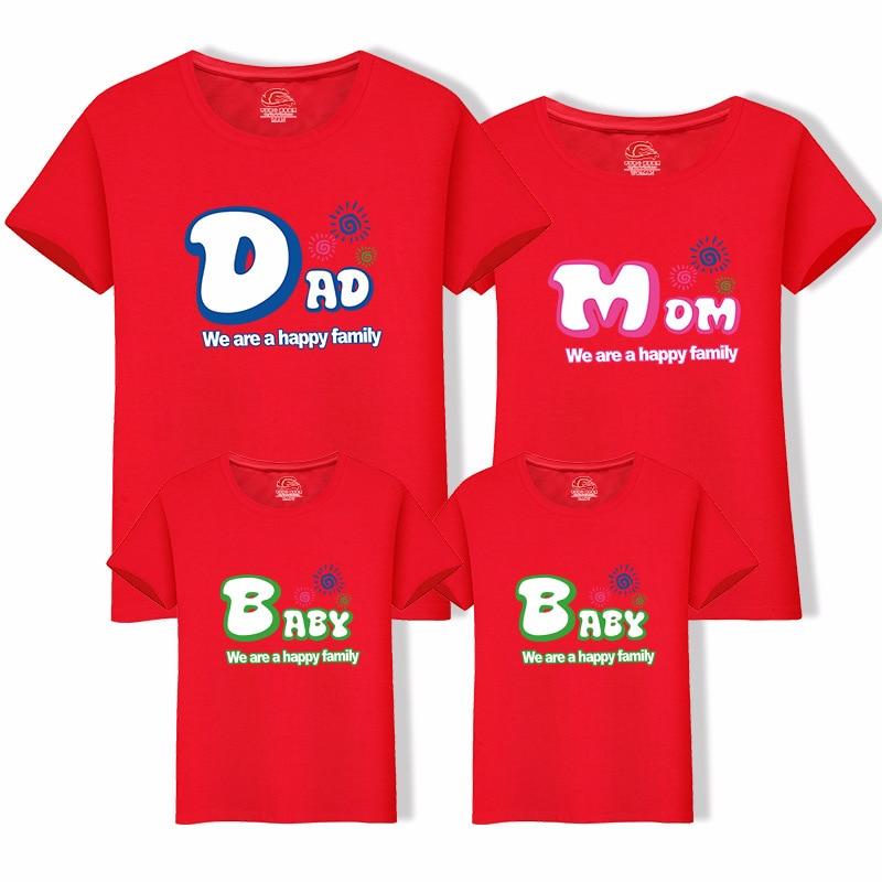 Dad Mom Baby Brief Print Familie Look T-shirt Familie Bijpassende - Kinderkleding - Foto 4