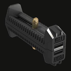 Image 2 - 100% الأصلي Nitecore F2 مايكرو USB شاحن بطاريات ذكي شحن مرنة قوة البنك ل بطارية ليثيوم أيون/IMR 26650 18650