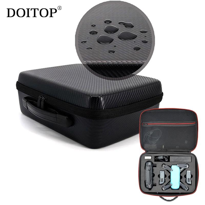 DOITOP Waterproof EVA Hard Storage Box Protect Bag for DJI Spark Drone Protective Box Portable Handbag Case Shell For DJI Spark