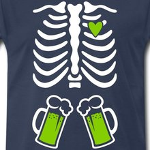 Beer in skeleton & heart Men's T-Shirt