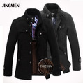 New Brand Winter Men's Wool Jacket Casual Coat  Mens Thicken Jackets Men Overcoat Black/Gray Plus Size:M-XXXL 585
