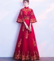Высококачественные женские платья в китайском стиле индивидуальный дизайн A005