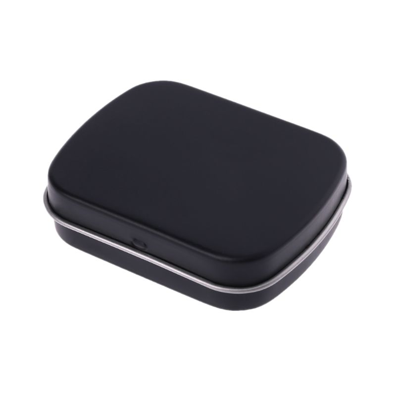 Portable Metal Tinplate Flip Storage Box Case Organizer Containers For Jewelry Money Coin Candy Keys Small Items