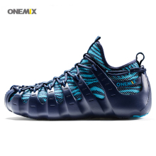 ONEMIX 2017 Men's sports running shoes quick-drying breathable knitting mesh slippers walking Rome shoes driving shoes 1230B
