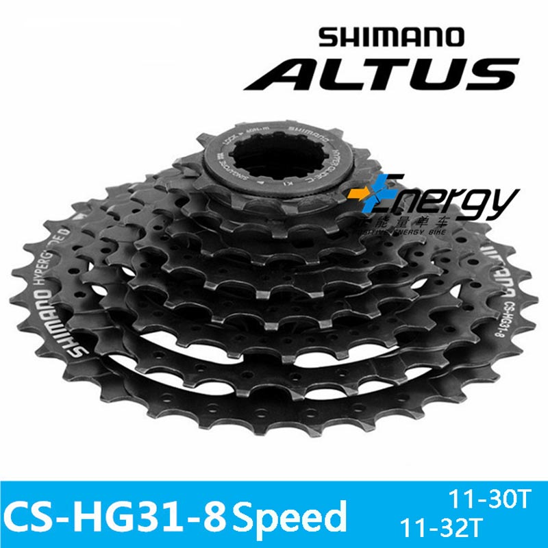 <font><b>SHIMANO</b></font> bicycle parts CS-<font><b>HG31</b></font> mountain bike MTB cassette flywheel 11-30/32T/34T ALIVIO DEORE bicycle parts 8s / 24s flywheel image