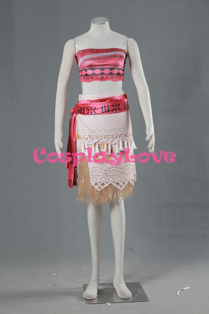 Stock Moana Dress Cosplay Costume From Movie Moana Cospaly For Adult Women Custom Made