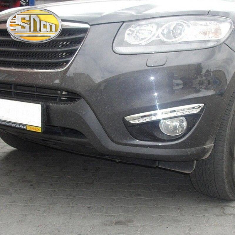 SNCN LED Daytime Running Light For Hyundai Santa Fe 2010 2011 2012 Car Accessories Waterproof ABS