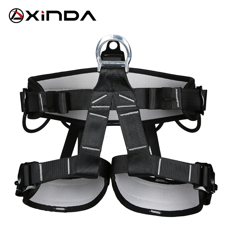 XINDA Camping Outdoor Hiking Rock Climbing Half Body Waist Support Safety Belt Harness Aerial  Equipment outdoor rock tree climbing rappelling full body safety belt harness black for camping hiking carving equipment climbing acces