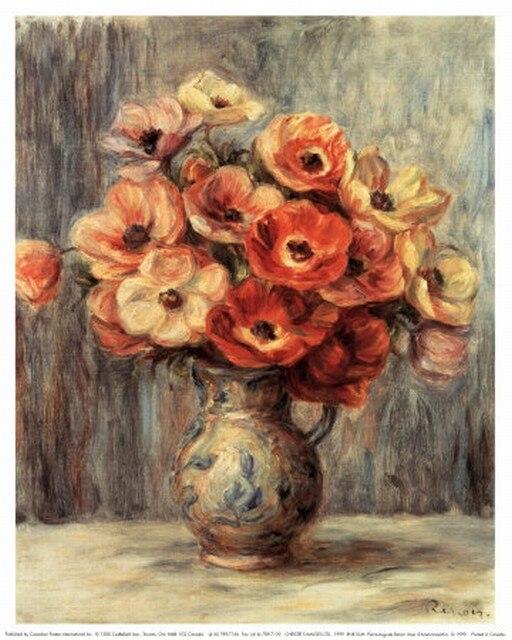 Bordado pintura a óleo renoir pinturas vaso flor bordado 14ct sem impressão kits de ponto cruz diy arte artesanal decoração da parede