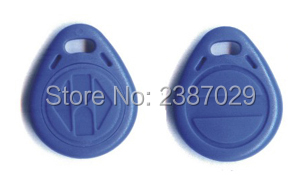 10pcs/lot 125khz rfid key fobs TK4100 chip ABS blue color waterproof passive program small rfid tag for access control system waterproof contactless proximity tk4100 chip 125khz abs passive rfid waste bin worm tag for waste management