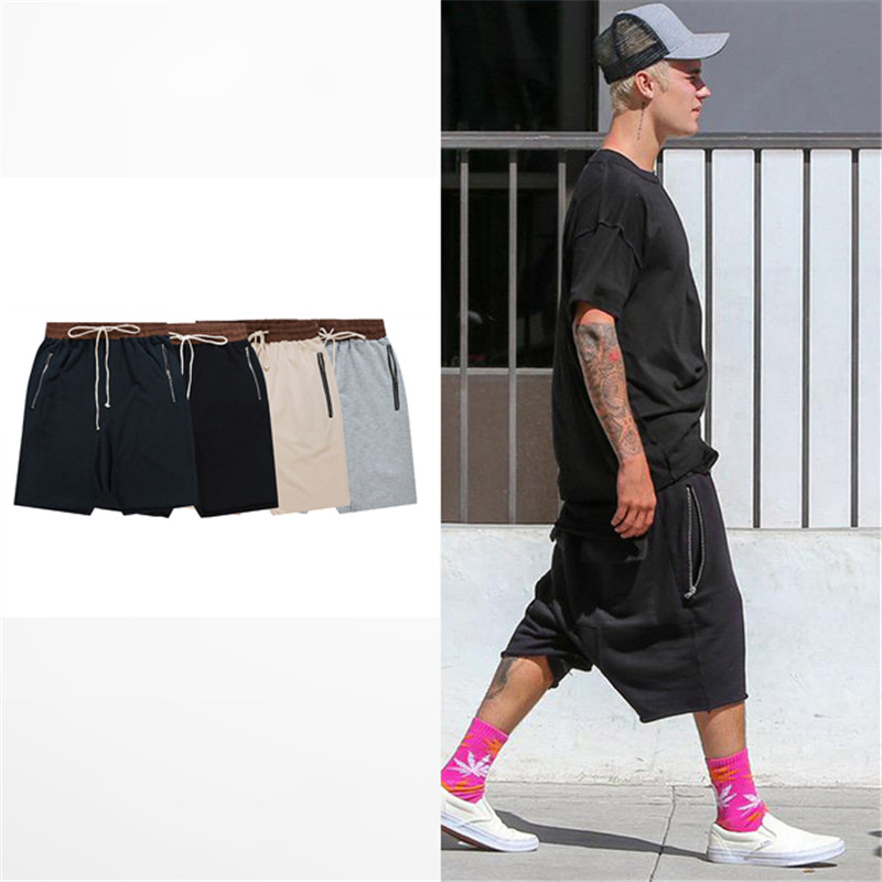 streetwear hip hop dance clothes stage for men black/grey/khaki/navy short mens stretch cotton sweat jogger shorts 50