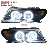 For BMW 3 Series E46 2Dr 320i 328i 325i Angel Eye Headlights Fit 2003 2005 Halo