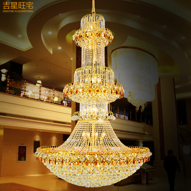 Luxuriöse Kronleuchter Verbindung Boden Villa Wohnzimmer Lampe Droplight  Gold Bronze Schlafzimmer Licht Esszimmer Lampe, Schmiedeeisen