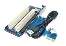 BEESCLOVER PCI Thể Hiện Card PCI E to PCI Adapter Thẻ PCIE ra Dual PCI Khe Cắm Thẻ Nhớ Mở Rộng USB 3.0 Bổ Sung Thêm vào thẻ Convertor R20