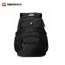 Swiss Army Knife Men's Backpack for 15-inch Macbook Wenger Gear Business Laptop Bag For Travel and Work Black Bagpack for Teens
