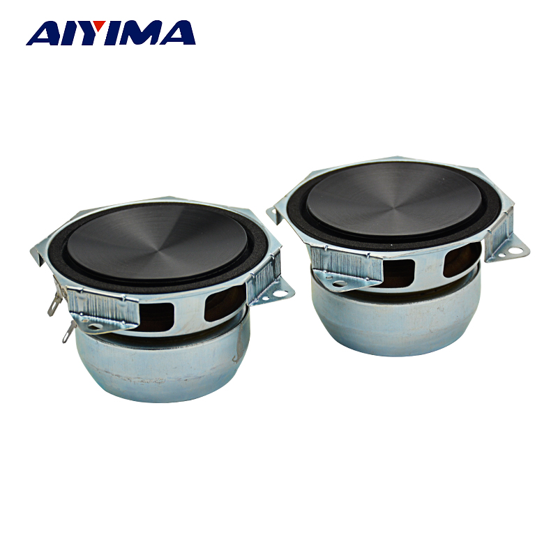 AIYIMA 2Pcs 3Inch Audio Portable Speakers 8Ohm 30W DIY Midrange Subwoofer Stereo Music Speakers