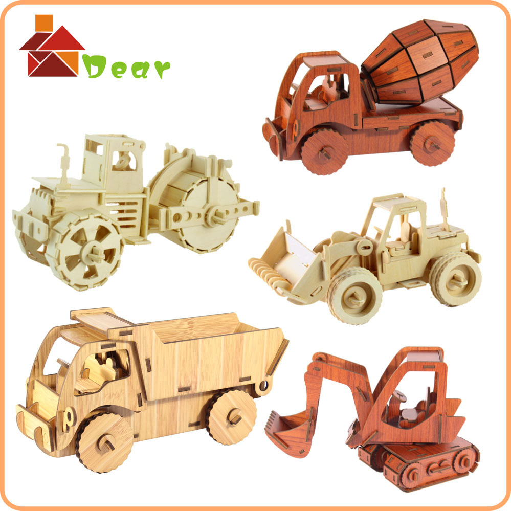 Truck And Car Shop >> Educational Car Puzzle Diy Wooden Toy Trucks And Cars