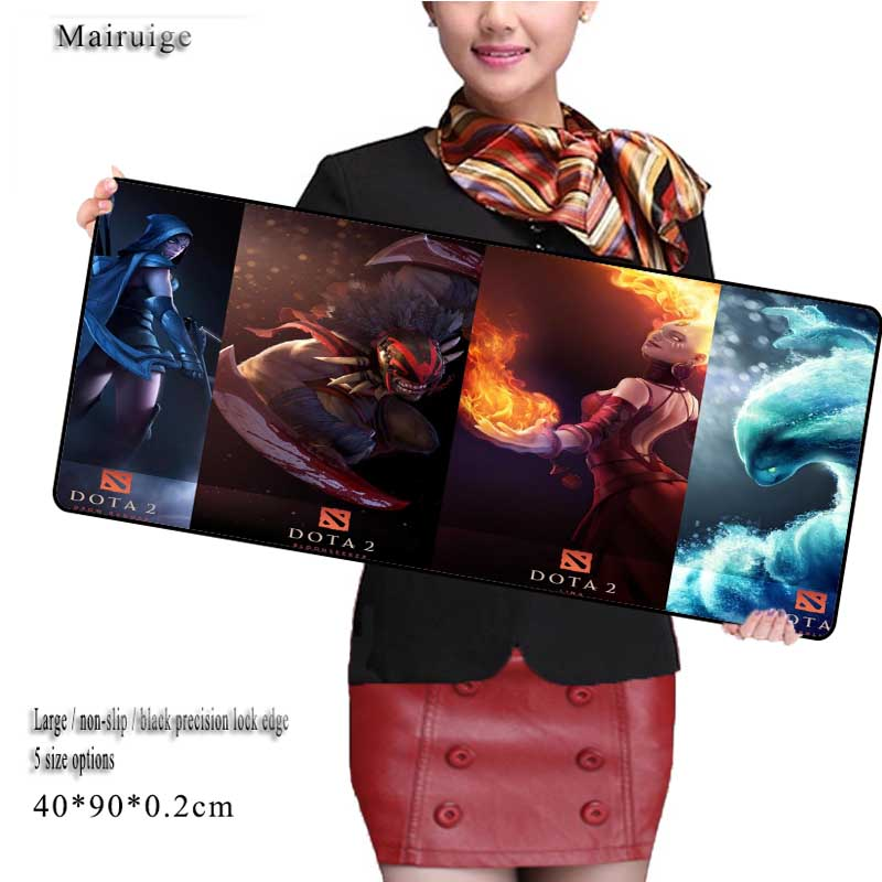 Mairuige DIY Custom Large 800mm*300mm Dota 2 Large Gaming Mouse Pad Mat Locking Edge Thicker PC Anti-slip Mouse Mat for DOTA 2