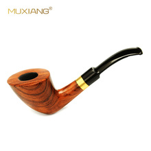 9mm Filter Pipes Rose Wood Traditional Bent Smoking Tobacco