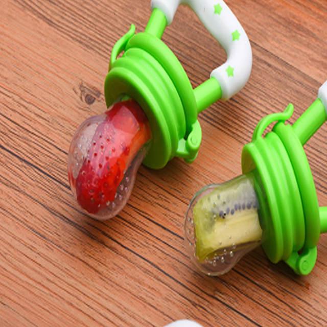 Mordedor de silicona para fruta – modelo estrellitas