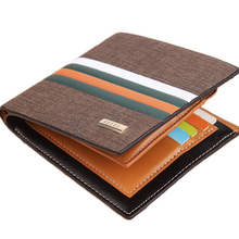 Hot sale Luxury Striped Men's Leather Wallet