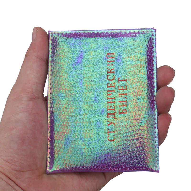 1pc Color fashion Russian Protection Cover for a Student ID Card PU leather Litchi Pattern Student ID Holder