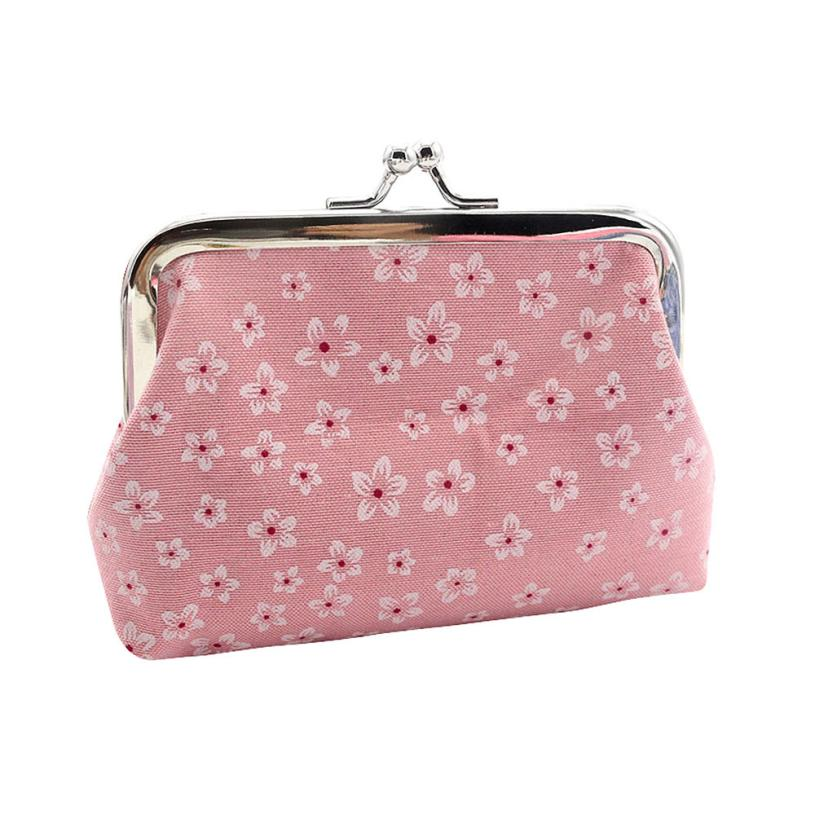 Women Coin Purse Cute Cotton Clot Retro Retro Flowers Hasp Small Wallet Change Pouch Key Card Holder Clutch Handbag Wholesale #Y casual weaving design card holder handbag hasp wallet for women