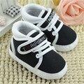 Alta Calidad 11-13 cm Lindo Infant Toddler Zapatos de Bebé, Niña, Niño Suave Suela de Zapatillas Prewalker Primer Caminante Cuna Sport 0-18 Meses