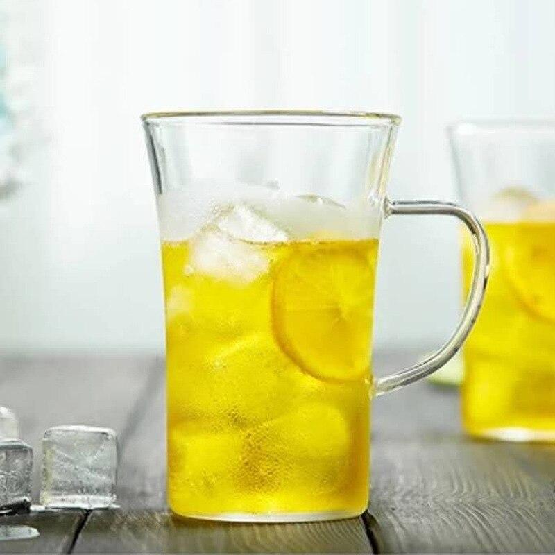 Tasse en verre résistant à la chaleur de 350 ml, eau, café, vaisselle de bureau à la maison, pu'er/Dahongpao/oolong de lait/thé blanc - 3